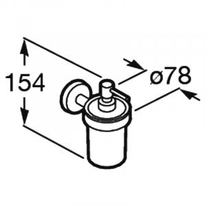 Дозатор для жидкого мыла Twin с держателем
