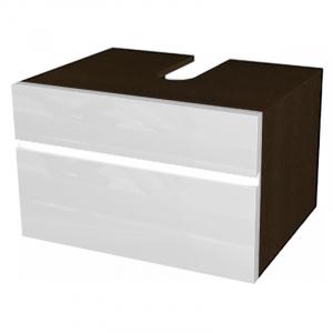 Шафка Domino під раковину, білий / венге