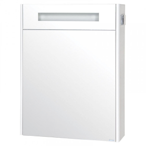 Шкафчик зеркальный Париж 65, белый