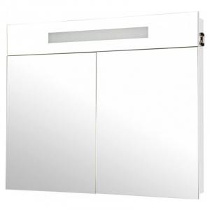 Шафка дзеркальний Ніка 95, білий