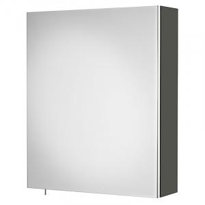 Шкафчик зеркальный Debba 50 серый антрацит