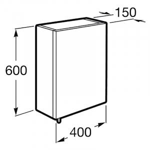 Шафка дзеркальний Debba 40 сірий антрацит