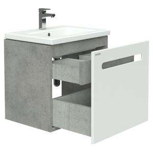 Шафка Color для раковини Twins 60 білий / бетон