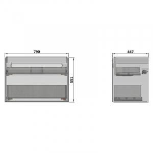 Шафка Color для раковини Twins 80 білий / бетон
