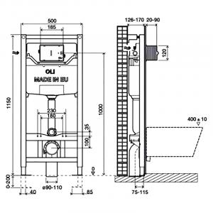 Инсталляционный модуль Oli 120 Plus Mechanic OliPure Simplex