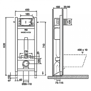 Инсталляционная система Expert Evo 820