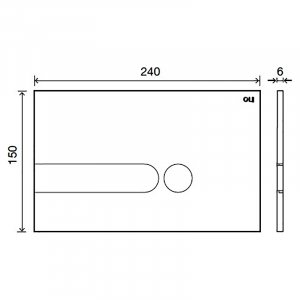 Кнопка Iplate 3/6 soft touch біла