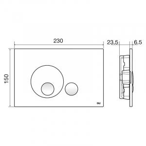 Кнопка Globe Soft-touch 3/6 серая