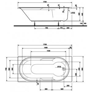 Акриловая ванна Laguna 170x80