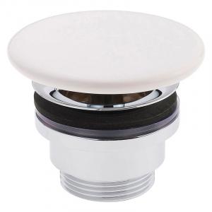 Донный клапан для раковины, белый