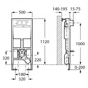 Инсталляционная система Duplo и чаша унитаза Meridian-N