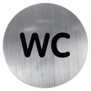Табличка на двері WC хром