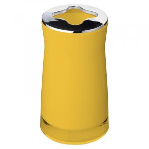 Стакан для зубних щіток Disco жовтий