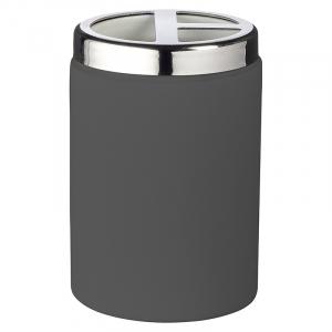 Стакан для зубных щеток Elegance серый