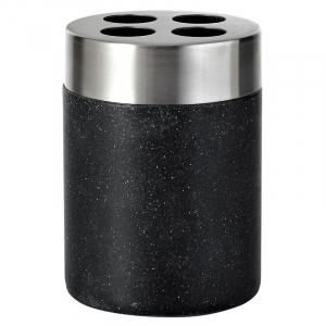 Стакан для зубных щеток Stone черный