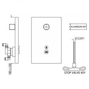 Встраиваемая система слива i-Flush для унитаза