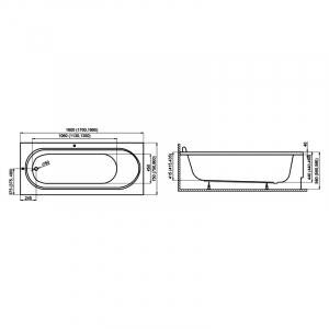 Ванна Medium 190x80 с ножками