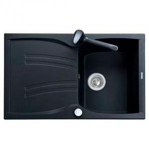 Кухонная мойка Medio 79 врезная, черная