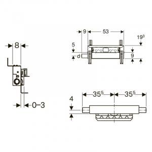 Инсталляционный модуль Kombifix для душевого трапа