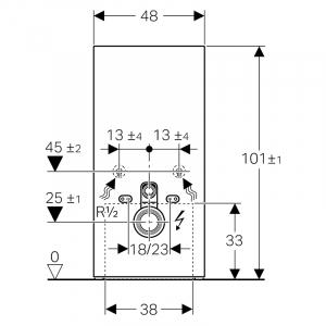 Инсталяционная система Monolith Plus для подвесного унитаза