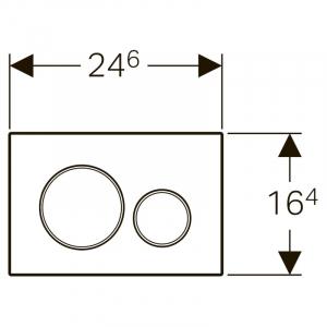 Кнопка Sigma 20, нержавіюча сталь