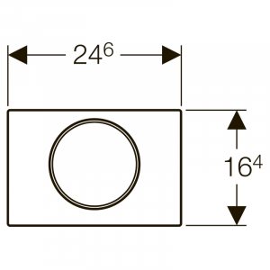 Кнопка Sigma 10, чорна / хром