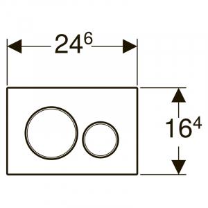 Кнопка Sigma 20, нержавеющая сталь