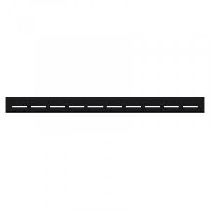 Душевой канал Линия 60 черный с полированной решеткой