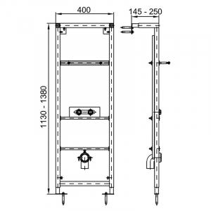 Инсталляционный модуль для раковины