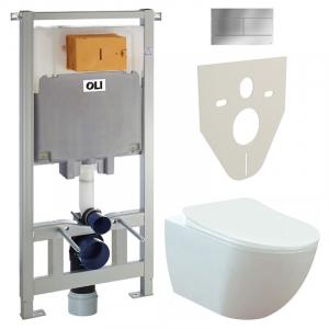 Инсталляционная система Oli 80 + чаша унитаза Free Rim-Off