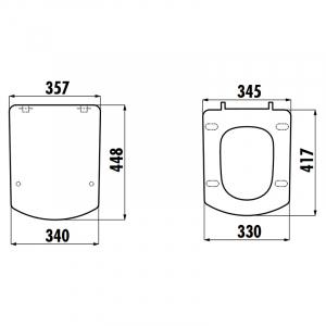 Інсталяція OLI120 Plus 099949 + чаша унітаза Tetra TP326-11CB00E-0000