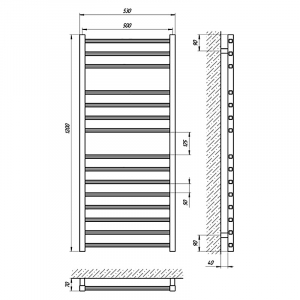 Рушникосушка Імідж П15 50x120