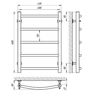 Рушникосушка Флеш П5 40x60