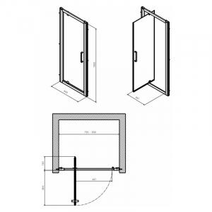 Душевые двери Geo 80 Pivot Reflex