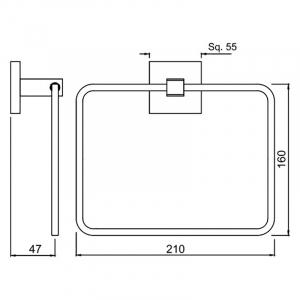Тримач Kubix Prime для рушники квадратний