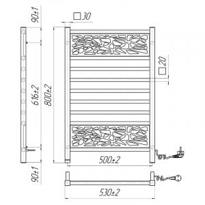Рушникосушка Анталія-І 80x53/50 TR права