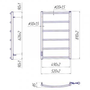 Рушникосушка Класик HP-I 80x53 TR