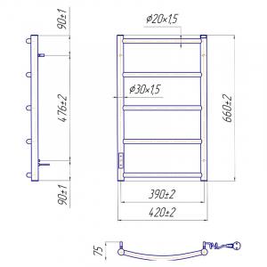 Рушникосушка Класик HP-I 65x43/75 TR