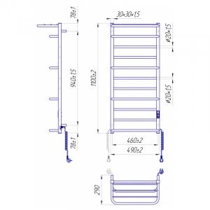Рушникосушка Люксор-I 110x50/29 TR