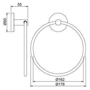 Тримач Continental для рушники кільце