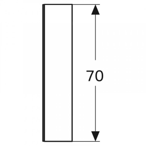 Шафка дзеркальна Option 120