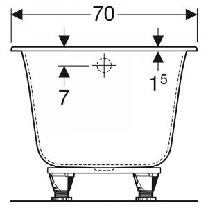 Ванна Soana 160x70 Slim Rim з ніжками