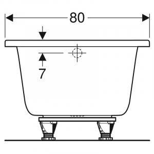 Ванна Selnova Square 180x80 з ніжками