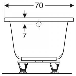 Ванна Selnova Square 170x70 з ніжками