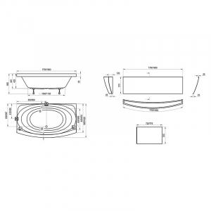 Акриловая ванна Evolution 182x102