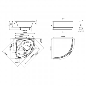 Акриловая ванна NewDay 140x140