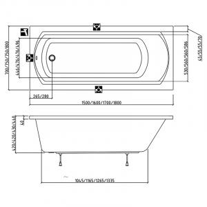 Ванна Domino II 170x75