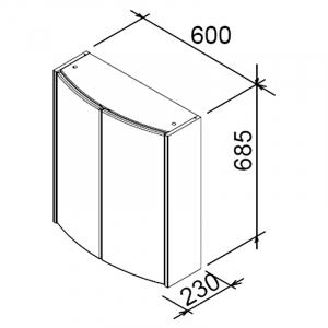 Шафка SHC Uni 60, онікс / білий
