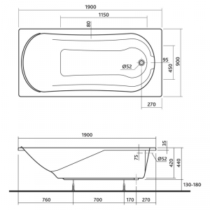 Ванна Comfort 190x90