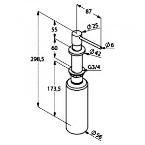 Дозатор для жидкого мыла (121600500)